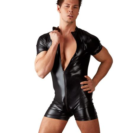 "Herren Body M - XL Wetlook mit 3-Wege-Zip ""Mika"""