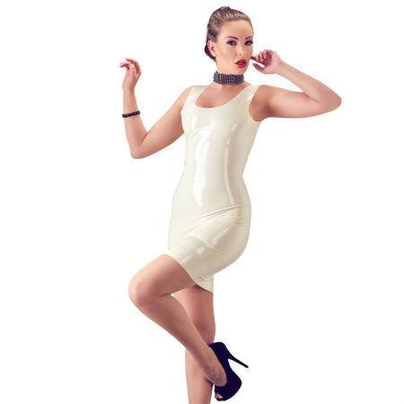 "Latex Minikleid M - 2XL in Creme-Weiss ""Nuala"""