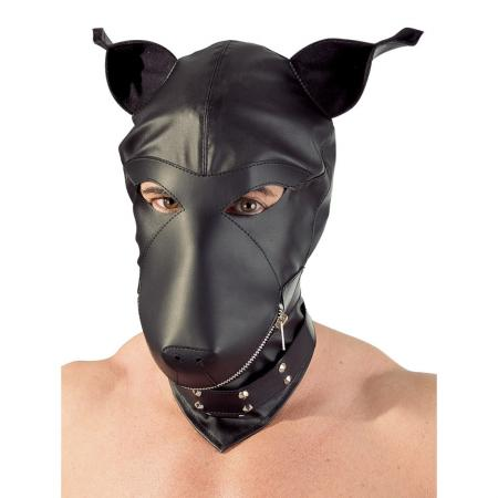 Lederimitat Dog Mask S-L