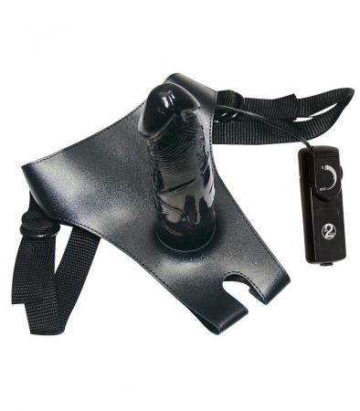 Vibro Strap-On Black Queeny Love